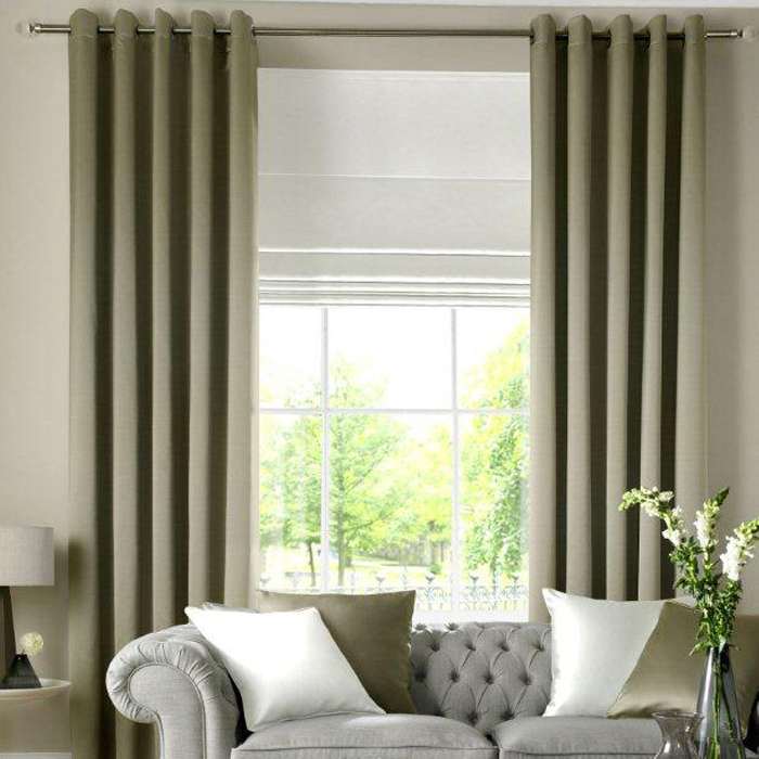 Curtains With Matching Roman Blinds Wood Blinds with Curtains